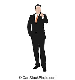 Vector business man indicate