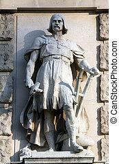 Johann Koloc: Slav, on the facade of the Neuen Burg on...