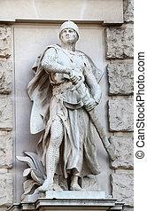 Viktor Tilgner: Crusader, on the facade of the Neuen Burg on...