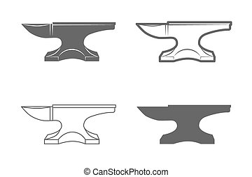 Anvil. Blacksmith equipment. - Anvil. Vintage Style. Vector...
