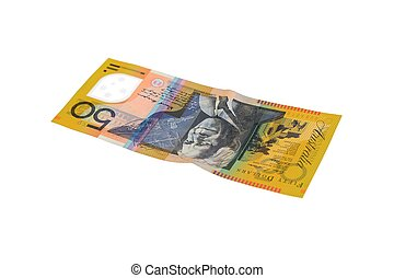 Australian Currency - A close up shot of can Australian $50...