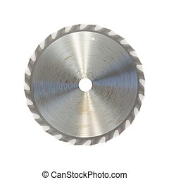 Circular Saw Blade - A close up shot of a circular saw blade