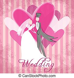 Wedding congratulation - Best wishes for happy and romantic...