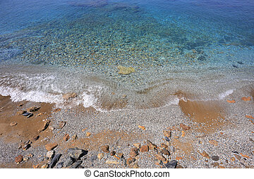 Mediterranean Sea with clear water