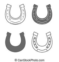 Horseshoes. Vintage Style. Vector Illustration isolated on...