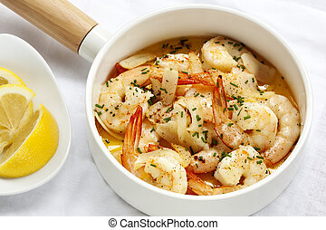 Shrimp with Garlic Lemon and Chives
