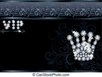 Brilliant Queen crown VIP card, vector illustration