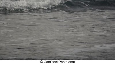 Beautiful closeup of waves - majestic water games at the...