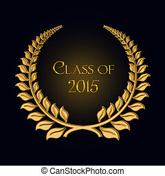 gold laurel for 2015 graduation - Gold laurel design for...