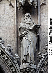 Statue of Saint, Votivkirche The Votive Church in Vienna -...