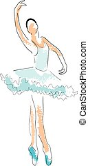 ballerina drawing - Is a EPS 10 Illustrator file