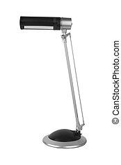 desk lamp - Black desk lamp isolated on white background