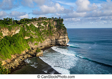 Landscape of High Cliff at Sunny Day - High Cliff at Sunny...