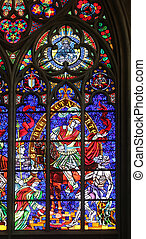 St Martin, Stained glass in Votiv Kirche The Votive Church...