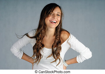 Big smile - Young girl giving a big smile