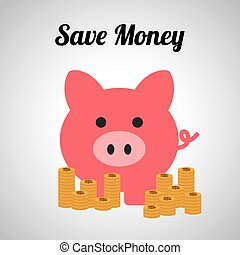 save money design, vector illustration eps10 graphic