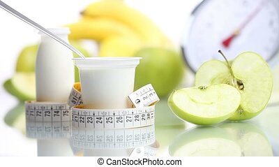 diet food teaspoon blending yogurt - diet food yogurt...