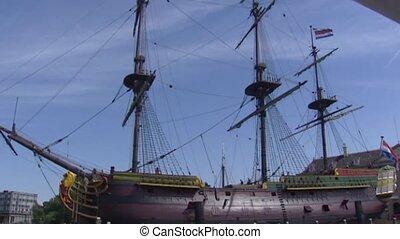 18th-century cargo ship of the Dutch East India Company VOC...