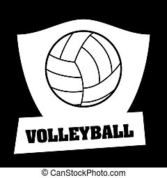 volleyball ball design, vector illustration eps10 graphic