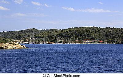 Bucht at the Ormos Panagias in Sithonia