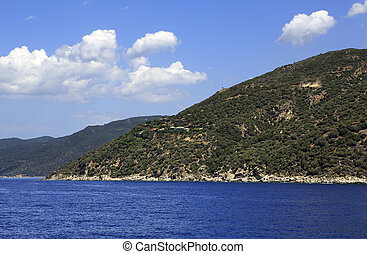 Mount Athos is a mountain and peninsula in Greece