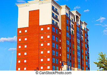 Modern building of National Harbor, Maryland, USA...