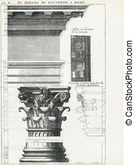 Pantheon in Rome XIV - Du dedans du Pantheon, a Rome,...
