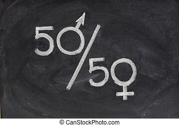 gender equal opportunity or representation - fifty percent -...