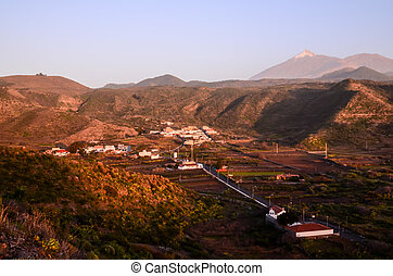 Village of Canary Islands - Canarian Village among a forest...