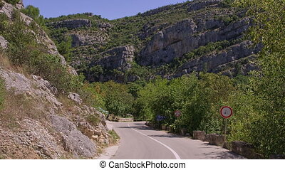 Karst nature road - Road in karst nature of the Krka River...