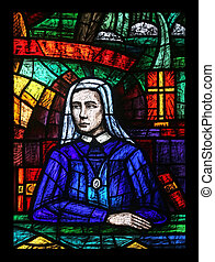 Africa window, Stained glass in Votiv Kirche The Votive...