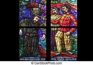 Asia window, Stained glass in Votiv Kirche (The Votive...