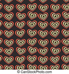 red heart on black background Valentine's day wedding seamless pattern vector