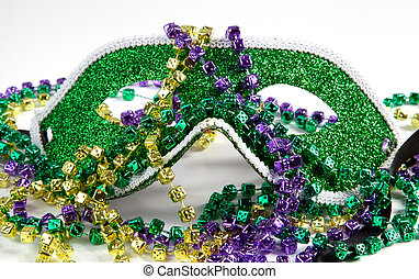 Mardi Gras Mask with Beads