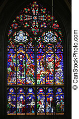 St. Severin and St. Martin, Stained glass in Votiv Kirche...