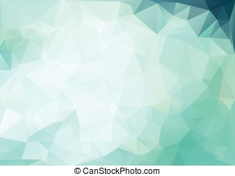 blue light polygonal mosaic background, Vector illustration,...