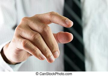 Finger touching virtual interface
