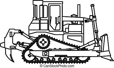 Construction bulldozer Vector Clipart EPS Images. 3,304 ...