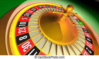 Roulette - 3D animation of casino roulette Whole 360...