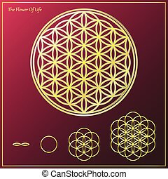 The Tree Of Life - Sacred geometry, Flower of life symbol...