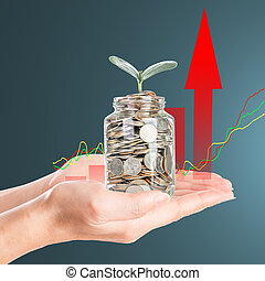 Cover coin money with growing your budget to investment