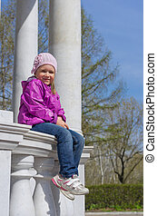 Little girl at park