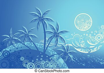 Tropic beach night, background