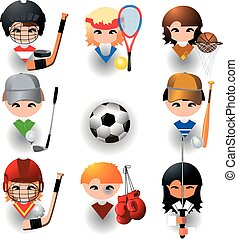 collection of sports, vector icon