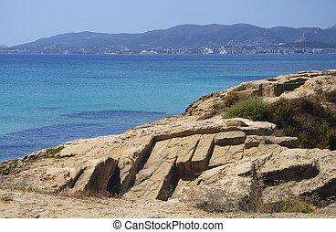 Palma bay and old limestone quarry in Es Carnatge - PALMA...