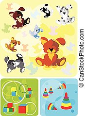 soft toy dog background - soft toy dog, background cartoon