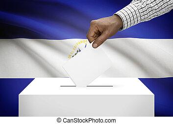 VOTO, caixa, com, nacional, bandeira, ligado, fundo, -, el,...