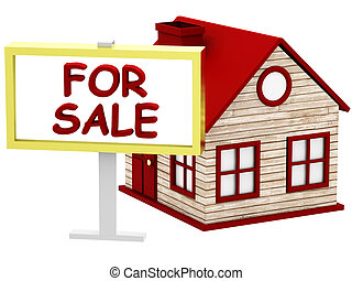 Home for Sale sign on white background