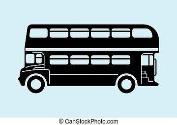 London double-decker bus - London double-decker red bus...