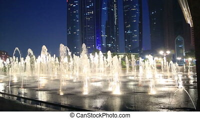 Abu Dhabi view at night - A view of the Abu Dhabi City and...